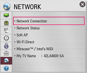 LG Smart TV Netcast - Network Connection
