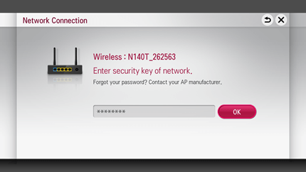 LG Smart TV Netcast - Security Key of Network